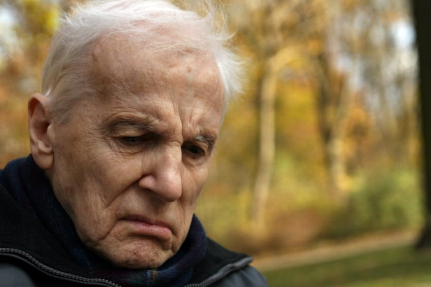Elderly Man With Worried Look Stock Photo