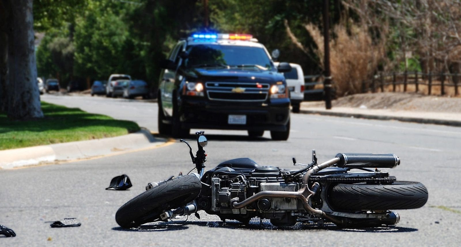 Stock Photo Of A Motorcycle Accident