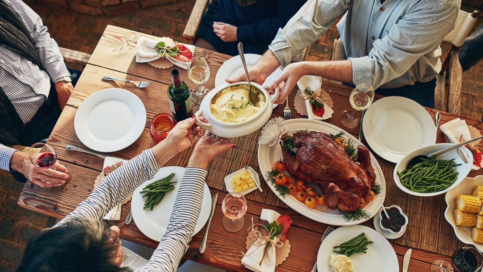 Thanksgiving Dinner Table Stock Photo