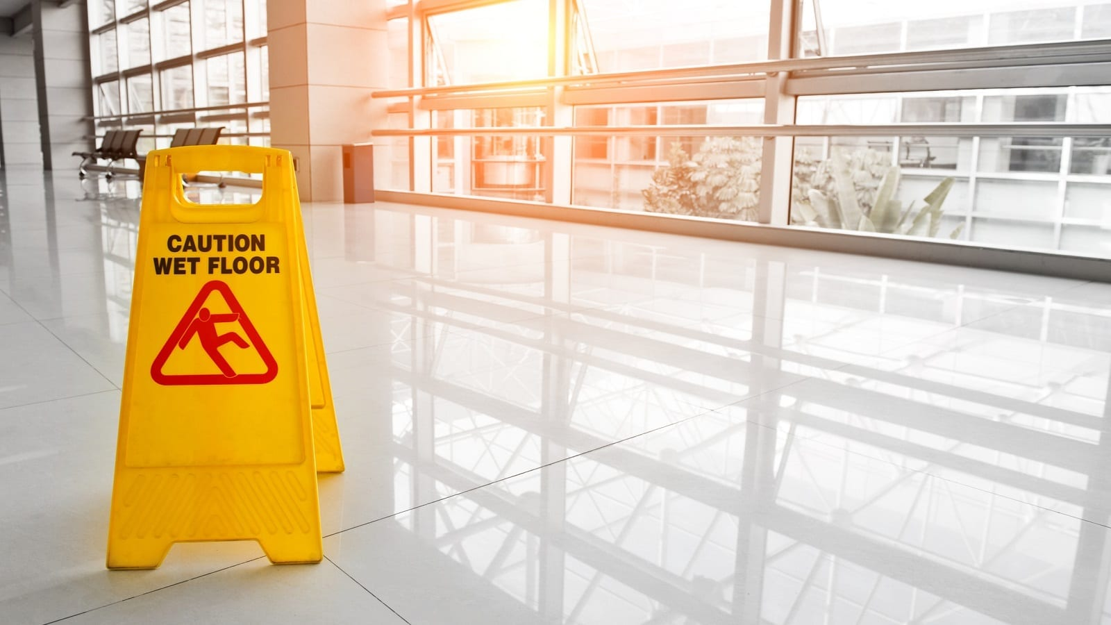 Caution Wet Floor Stock Photo