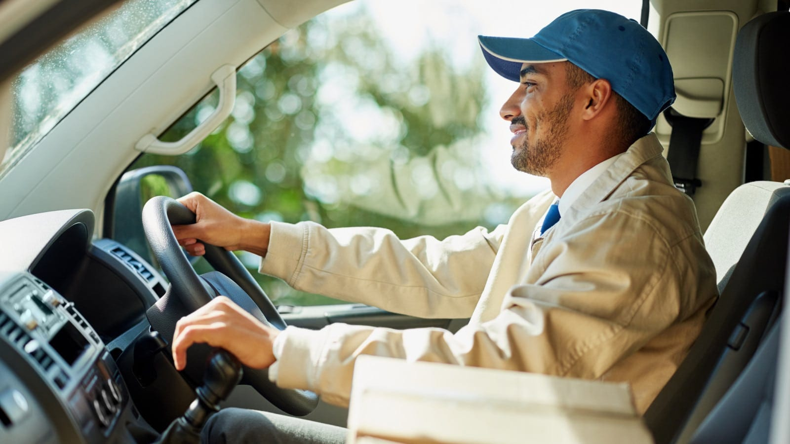 Commercial Delivery Driver Stock Photo