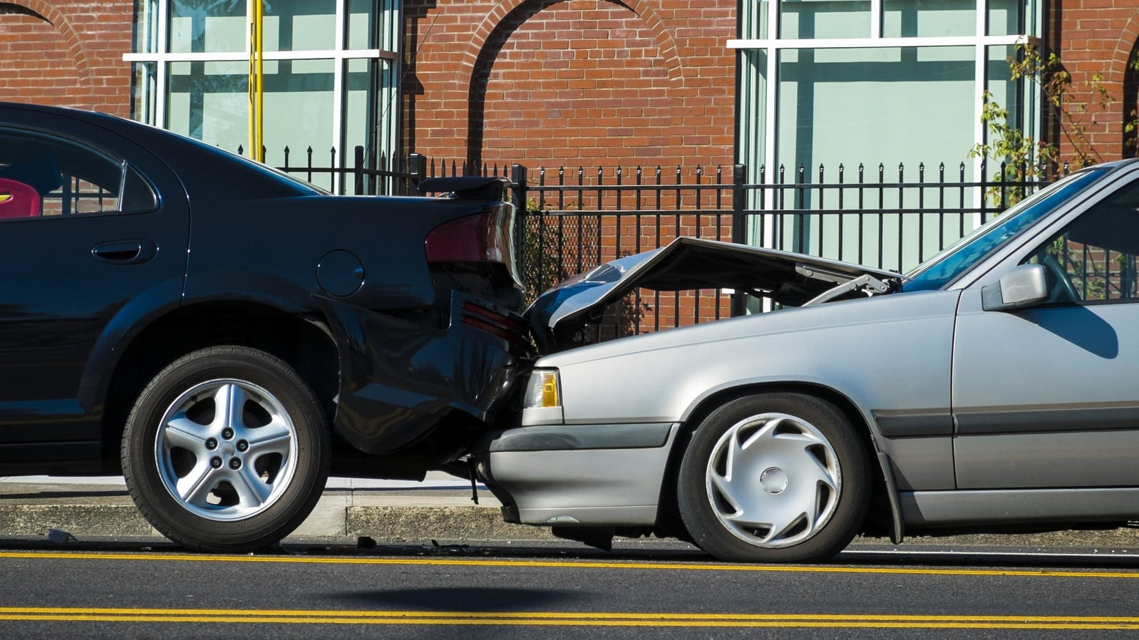 Rear End Auto Accident Stock Photo