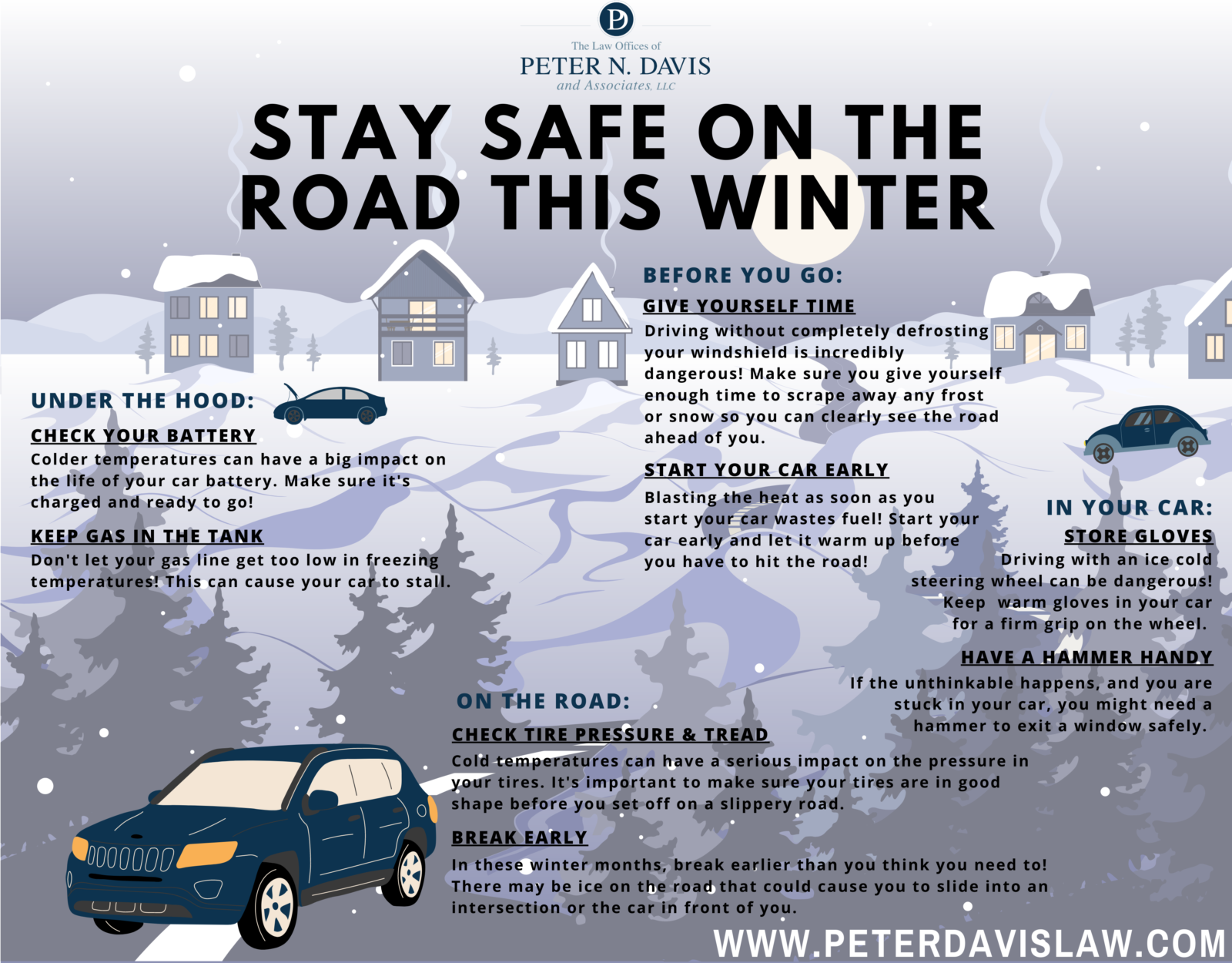 Paterson, NJ, winter driving tips infographic